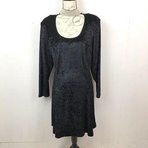 Vintage Crushed Velvet Choker Neck Dress 22/24W